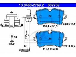 Brzdové platničky ATE 13.0460-2769.2 (zadné)