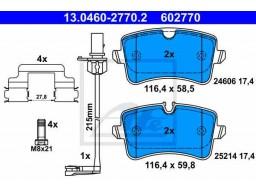 Brzdové platničky ATE 13.0460-2770.2 (zadné)