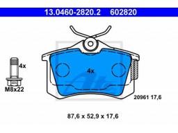 Brzdové platničky ATE 13.0460-2820.2 (zadné)