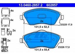 Brzdové platničky ATE 13.0460-2857.2 (predné)