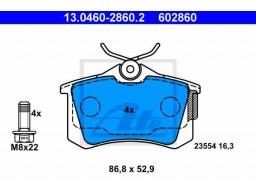 Brzdové platničky ATE 13.0460-2860.2 (zadné)