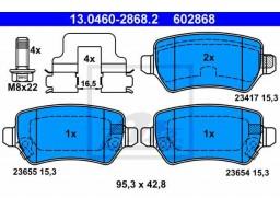 Brzdové platničky ATE 13.0460-2868.2 (zadné)