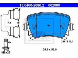 Brzdové platničky ATE 13.0460-2880.2 (zadné)