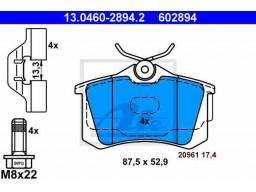 Brzdové platničky ATE 13.0460-2894.2 (zadné)