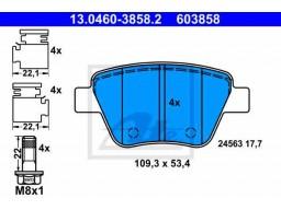 Brzdové platničky ATE 13.0460-3858.2 (zadné)