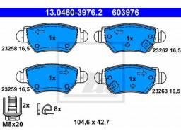 Brzdové platničky ATE 13.0460-3976.2 (zadné)