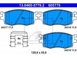 Brzdové platničky ATE 13.0460-5779.2 (predné)
