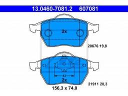 Brzdové platničky ATE 13.0460-7081.2 (predné)