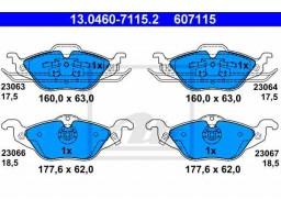 Brzdové platničky ATE 13.0460-7115.2 (predné)