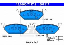 Brzdové platničky ATE 13.0460-7117.2 (predné)