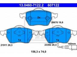 Brzdové platničky ATE 13.0460-7122.2 (predné)