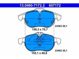 Brzdové platničky ATE 13.0460-7172.2 (predné)