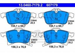 Brzdové platničky ATE 13.0460-7179.2 (predné)