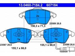 Brzdové platničky ATE 13.0460-7184.2 (predné)