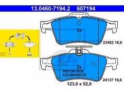 Brzdové platničky ATE 13.0460-7194.2 (zadné)