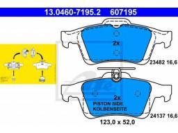 Brzdové platničky ATE 13.0460-7195.2 (zadné)