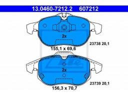 Brzdové platničky ATE 13.0460-7212.2 (predné)