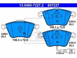 Brzdové platničky ATE 13.0460-7227.2 (predné)