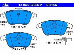 Brzdové platničky ATE 13.0460-7256.2 (predné)