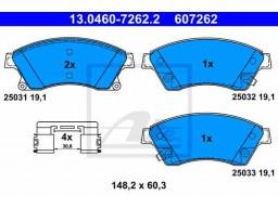 Brzdové platničky ATE 13.0460-7262.2 (predné)