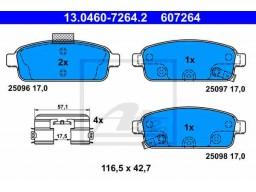 Brzdové platničky ATE 13.0460-7264.2 (zadné)