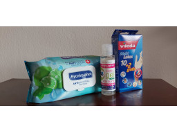 Sada - antibakteriálny gél na ruky, antibakteriálne utierky a rukavice MultiLatex