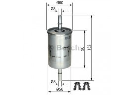 0450905273 - Palivový filter BOSCH