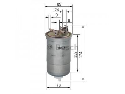 0450906322 - Palivový filter BOSCH