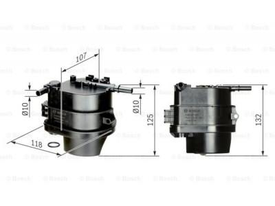 0450907007 - Palivový filter BOSCH