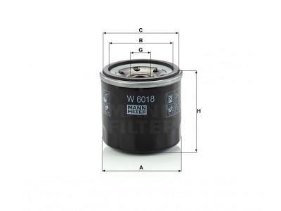 W6018 - Olejový filter MANN