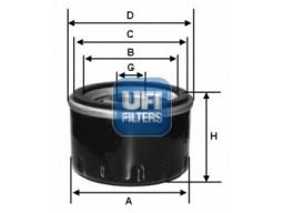 23.127.02 - Olejový filter UFI
