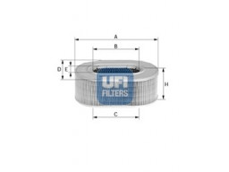 27.079.00 - Vzduchový filter UFI