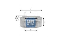 27.086.00 - Vzduchový filter UFI