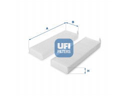 53.154.00 - Kabínový filter UFI (s aktívnym uhlím)