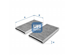 54.127.00 - Kabínový filter UFI (s aktívnym uhlím)