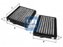 54.130.00 - Kabínový filter UFI (s aktívnym uhlím)