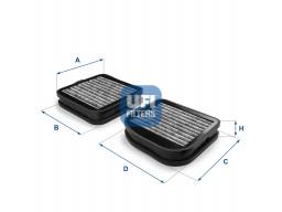 54.141.00 - Kabínový filter UFI (s aktívnym uhlím)