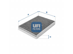 54.143.00 - Kabínový filter UFI (s aktívnym uhlím)
