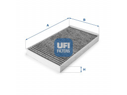 54.145.00 - Kabínový filter UFI (s aktívnym uhlím)