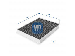 54.148.00 - Kabínový filter UFI (s aktívnym uhlím)