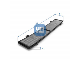 54.154.00 - Kabínový filter UFI (s aktívnym uhlím)