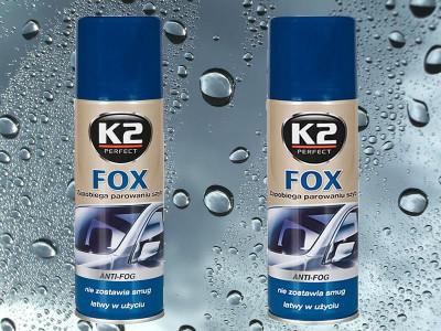 K2 Fox - Prípravok proti zahmlievaniu okien 200ml