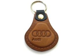 Kožená kľúčenka Audi