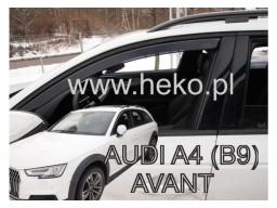 Deflektory - protiprievanové plexi Audi A4 Avant / Allroad (+zadné, 5-dverový, od r.v. 2016)