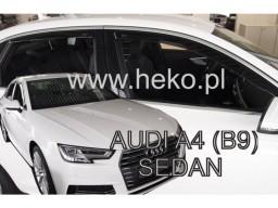 Deflektory - protiprievanové plexi Audi A4 Sedan (+zadné, 5-dverový, od r.v. 2016)