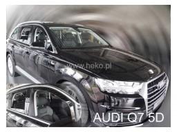 Deflektory - protiprievanové plexi Audi Q7 (+zadné, 5-dverový, od r.v. 2015)
