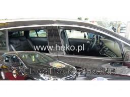 Deflektory - protiprievanové plexi Opel Astra K Sports Tourer / Combi (+zadné, 5-dverový, od r.v. 2015)