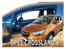Deflektory - Protiprievanové plexi Opel Crossland X (5-dverový, od r.v. 2017)