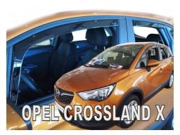 Deflektory - Protiprievanové plexi Opel Crossland X (+zadné, 5-dverový, od r.v. 2017)
