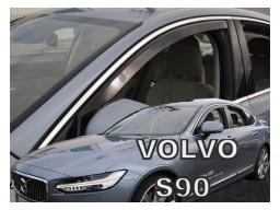 Deflektory - Protiprievanové plexi Volvo S90 (4-dverový, od r.v. 2016)